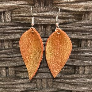 Butternut metallic leather earrings